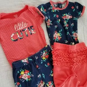 Girls floral outfits- 3 Months